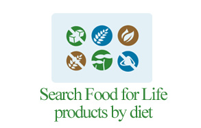 Search Food for Life products by diet