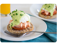 Salmon Benedict Avocado Hollandaise