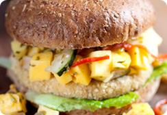 Vegan Mango Chutney Burger