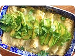 Green Goddess Enchiladas