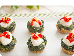 Baked Spinach Dip Canapes