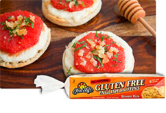 English Muffins with Sweet Ricotta and Bruleed Grapefruit