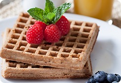 Original waffles with berries on top