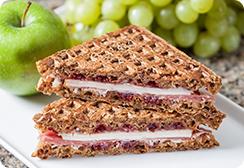 Apple nut waffle sandwich