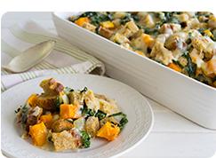 Kale, Butternut and Gruyere Dressing