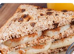 Cinnamon raisin sweet potato sandwhich
