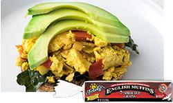 Vegan Kale and Tofu Scramble Breakfast Sandwiches
