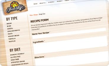 Recipe sharing online