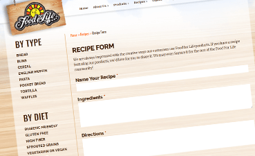 Share a recipe online