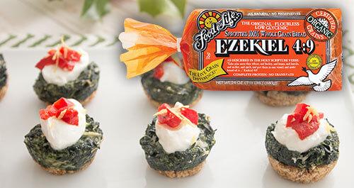 Spinach dip with Ezekiel 4:9 bread