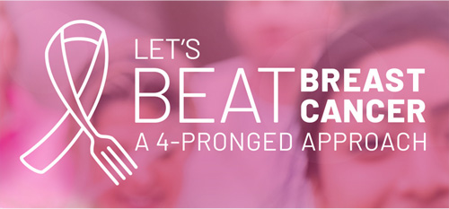 Let's Beat Breast Cancer a 4-Pronged Approach