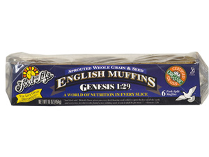 [Organic Sprouted 100% Whole Grain & Seed English Muffins]
