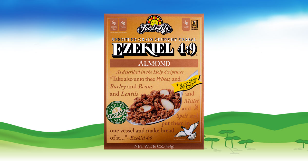 Ezekiel 4 9 Almond Sprouted Whole Grain Cereal Food For Life