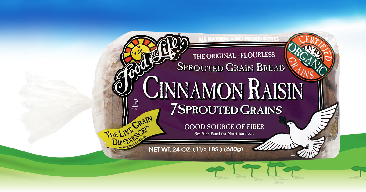 7 Sprouted Grains Cinnamon Raisin Bread Food For Life
