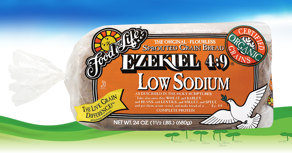 ezekiel 4:9 low sodium sprouted whole grain bread | food for life, Skeleton