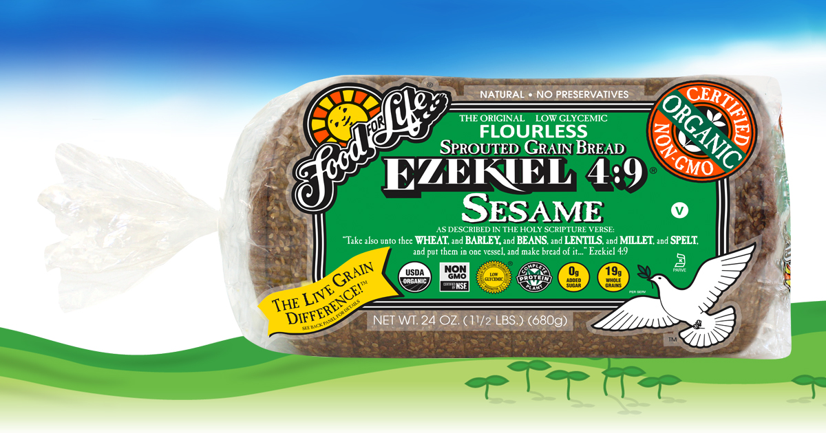 Ezekiel 4 9 Sesame Sprouted Whole Grain Bread Food For Life