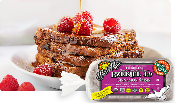 Ezekiel 4 9 Cinnamon Raisin Sprouted Whole Grain Bread Food For Life