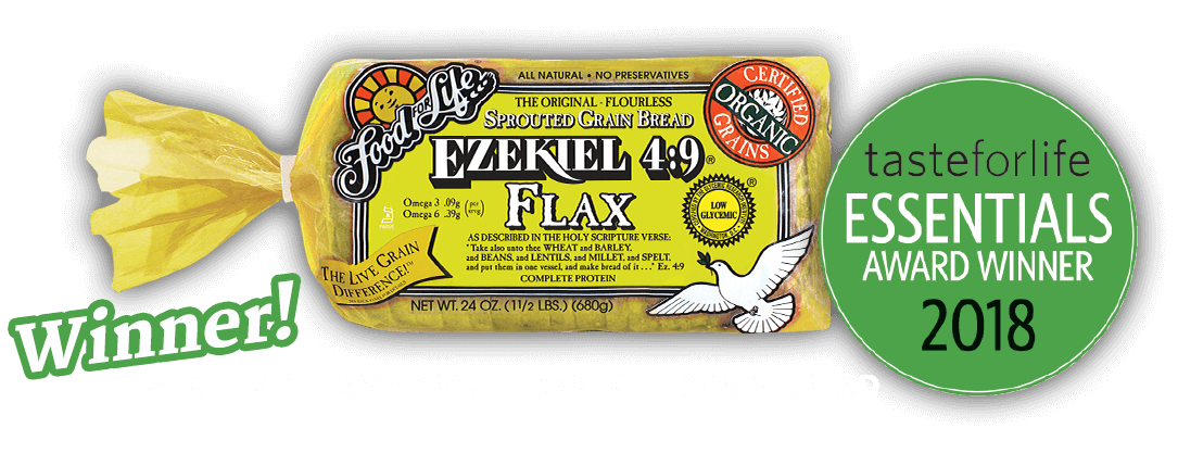 Ezekiel 4:9 Falx Spourted Whole Grain Bread is the tasteforlife essentials award winner for 2018. Click to learn more.