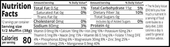 Ezekiel 4:9 sprouted whole grain english muffins nutrition facts