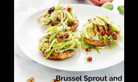 Embedded thumbnail for Brussels Sprout and Apple Tartines