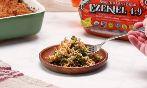 Embedded thumbnail for Kale and Brussel Sprout Gratin with Cashew Cream and Garlic Breadcrumbs