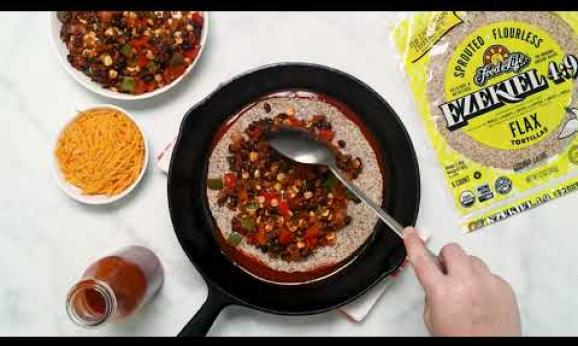 Embedded thumbnail for Vegetarian Flax Tortilla Enchilada Pie