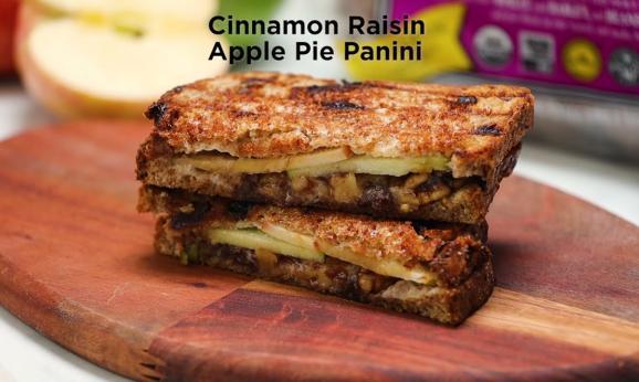 Embedded thumbnail for Cinnamon Raisin Apple Pie Panini