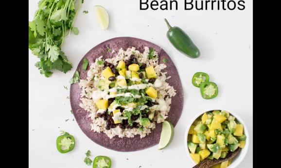 Embedded thumbnail for Mango Black Bean Burritos