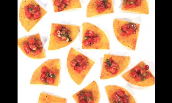 Embedded thumbnail for Salmon Poke on Tortilla Crisps